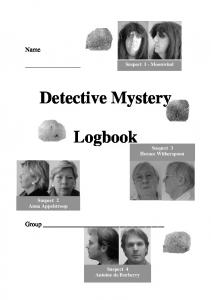 Detective Mystery. Logbook