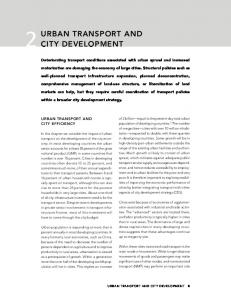 Deteriorating transport conditions associated with urban sprawl and increased