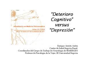 Deterioro Cognitivo versus