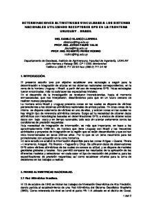 DETERMINACIONES ALTIMETRICAS VINCULADAS A LOS SISTEMAS NACIONALES UTILIZANDO RECEPTORES GPS EN LA FRONTERA URUGUAY BRASIL