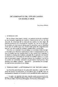 DETERMINANTES DEL TIPO DE CAMBIO: UN MODELO ARCH