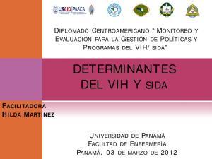 DETERMINANTES DEL VIH Y SIDA