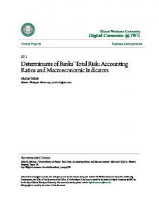Determinants of Banks' Total Risk: Accounting Ratios and Macroeconomic Indicators