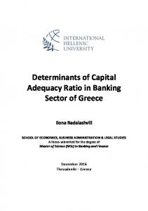 Determinants of Capital Adequacy Ratio in Banking Sector of Greece