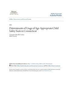 Determinants of Usage of Age-Appropriate Child Safety Seats in Connecticut