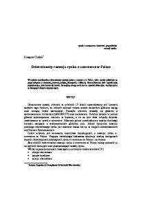 Determinanty rozwoju rynku e-commerce w Polsce