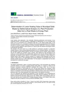 Determination of Lower Heating Value of Municipal Solid Waste by Mathematical Analysis of a Plant Production Data from a Real Waste-to-Energy Plant