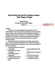 Determining The Best Elk Hunting Location Near Eugene, Oregon