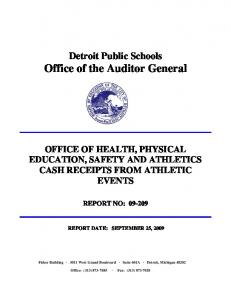 Detroit Public Schools Office of the Auditor General