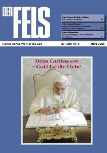 Deus Caritas est Gott ist die Liebe