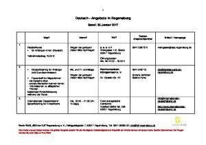 Deutsch - Angebote in Regensburg