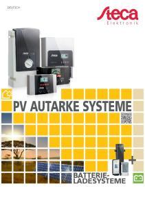 DEUTSCH. Elektronik PV AUTARKE SYSTEME BATTERIE- LADESYSTEME