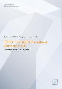 Deutsche Asset & Wealth Management. Deutsche Asset & Wealth Management Investment GmbH