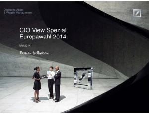 Deutsche Asset & Wealth Management. Europawahl Mai 2014