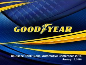 Deutsche Bank Global Automotive Conference 2016