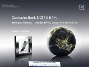 Deutsche Bank UCITS ETFs