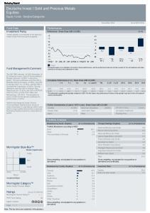 Deutsche Invest I Gold and Precious Metals Equities