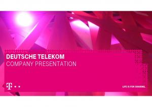 DEUTSCHE TELEKOM COMPANY PRESENTATION