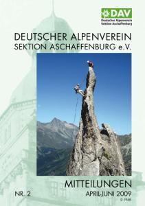 DEUTSCHER ALPENVEREIN SEKTION ASCHAFFENBURG e.v