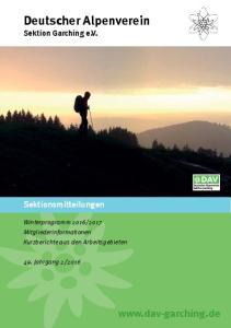 Deutscher Alpenverein Sektion Garching e.v