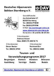 Deutscher Alpenverein Sektion Starnberg e.v