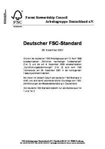 Deutscher FSC-Standard
