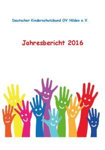 Deutscher Kinderschutzbund OV Hilden e.v. Jahresbericht 2016