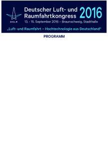 Deutscher Luft- und. Raumfahrtkongress