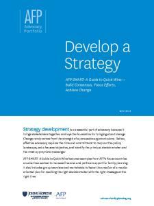 Develop a Strategy AFP