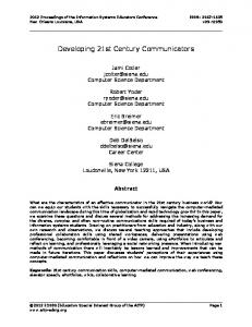 Developing 21st Century Communicators