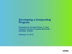 Developing a Composting Program