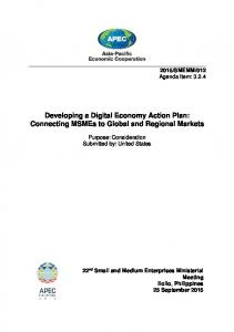 Developing a Digital Economy Action Plan: Connecting MSMEs to Global and Regional Markets