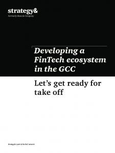 Developing a FinTech ecosystem in the GCC Let s get ready for take off