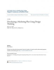 Developing a Marketing Plan Using Design Thinking