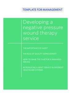 Developing a negative pressure wound therapy service