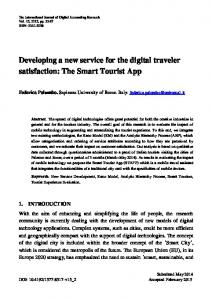 Developing a new service for the digital traveler satisfaction: The Smart Tourist App