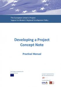 Developing a Project Concept Note
