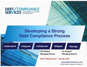 Developing a Strong Debt Compliance Process