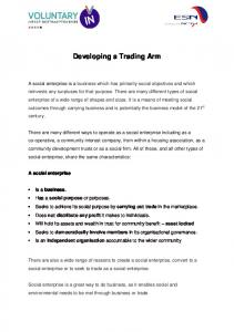 Developing a Trading Arm