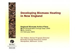 Developing Biomass Heating in New England