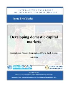 Developing domestic capital markets