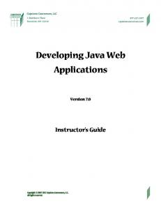 Developing Java Web Applications