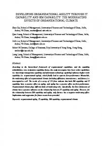 DEVELOPING ORGANIZATIONAL AGILITY THROUGH IT CAPABILITY AND KM CAPABILITY: THE MODERATING EFFECTS OF ORGANIZATIONAL CLIMATE