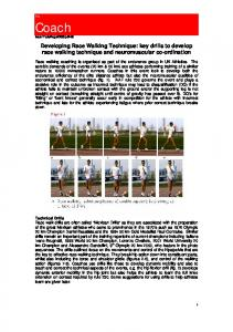 Developing Race Walking Technique: key drills to develop race walking technique and neuromuscular co-ordination