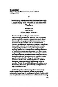 Developing Reflective Practitioners through Lesson Study with Preservice and Inservice Teachers