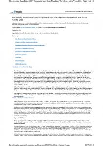 Developing SharePoint 2007 Sequential and State Machine Workflows with Visual St... Page 1 of 18
