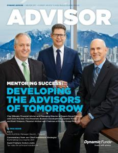 DEVELOPING THE ADVISORS OF TOMORROW MENTORING SUCCESS:
