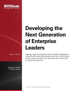 Developing the Next Generation of Enterprise Leaders