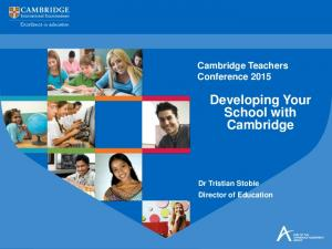 Developing Your School with Cambridge