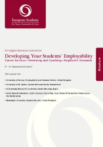 Developing Your Students Employability